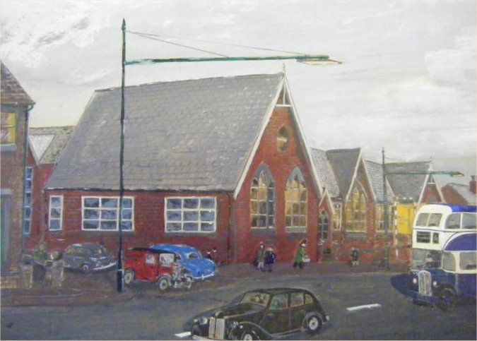 Halifax Road School (1878-1970) at Algernon Street (Rex Moore)