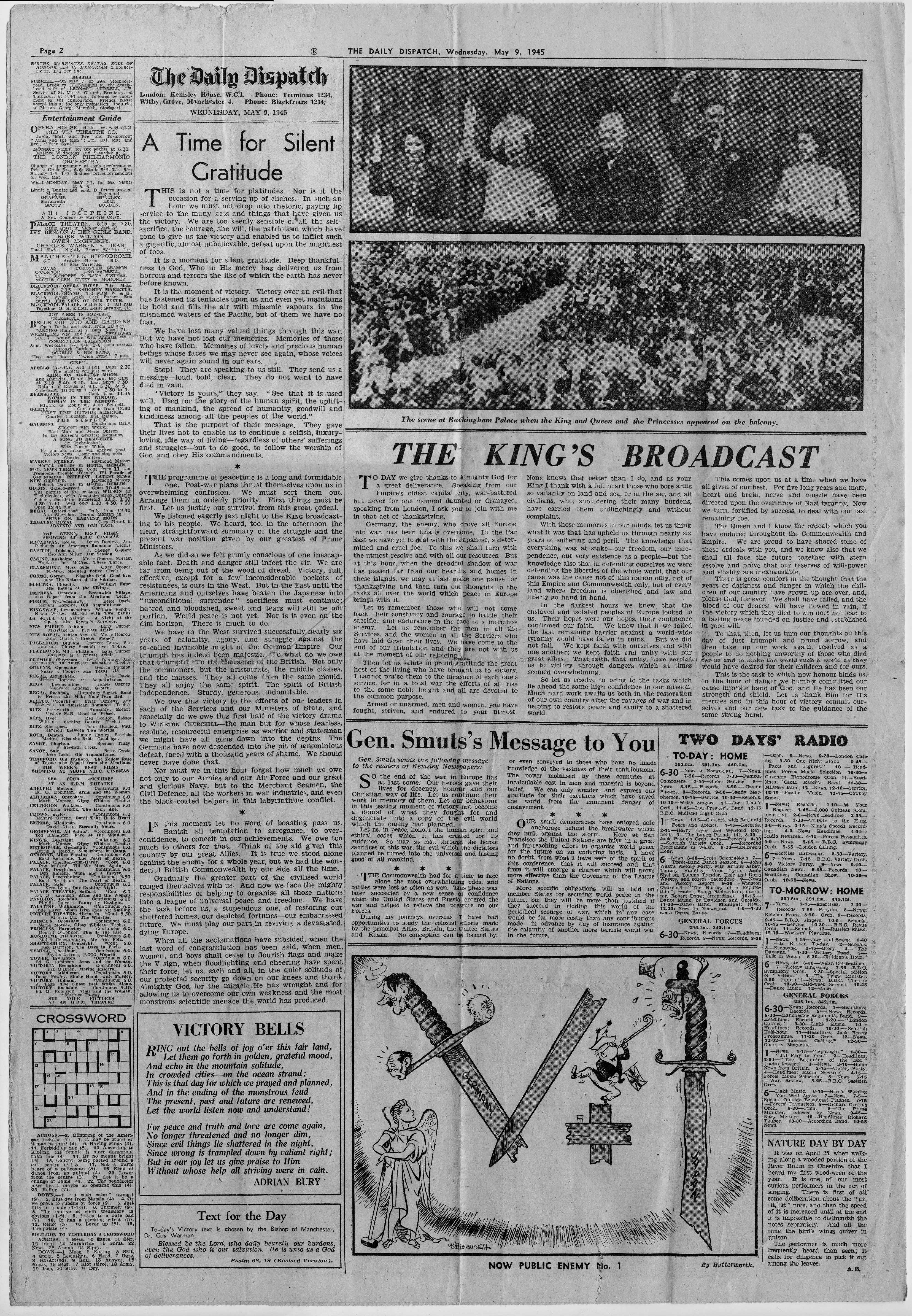 Wednesday, 9th May 1945 - The Daily Dispatch, page 2